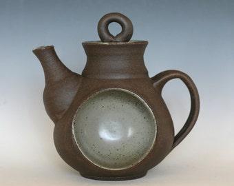 Full Moon Teapot, Handmade Stoneware Teapot, Ceramic Teapot, wheel thrown teapot, pottery teapot