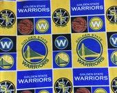 NBA Golden State Warriors Basketball cotton Fat Quarter Fabric 18x22
