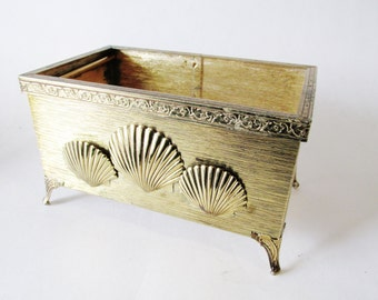 Vintage Stylebuilt Container, Toothbrush Holder, Hollywood Regency, Powder Room Decor