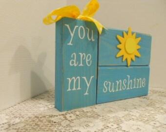 SUNSHINE, Word Blocks, Summer, You Are My Sunshine
