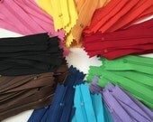 YKK zippers wholesale, 110 pcs,  5 inch all purpose, dress zippers assorted colors