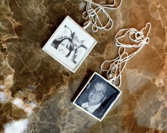 Solid Sterling Photo Necklace WATERPROOF, Personalize Photo Pendant, Personalize Picture Necklace, Picture Pendant