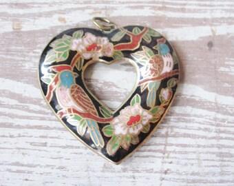 Cloisonne Heart Pendant