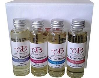 Mini Massage Oil Gift Set (4 x 60ml)