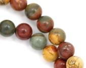 Red Creek Jasper Beads - 8mm Round - Full Strand