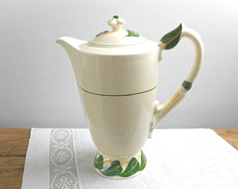 Vintage Vernon Ware Coffee Pot Philodendron Pattern Excellent Condition California Pottery 1940s Dinnerware Retro Kitchen Dining Home Decor