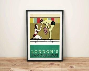 London's Famous Lidos Art Print