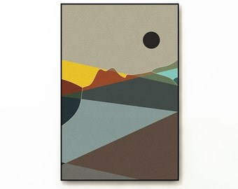 LANDSCAPE & BEYOND no.268 - Abstract Modern Minimalist Landscape Mid Century Style Art Print