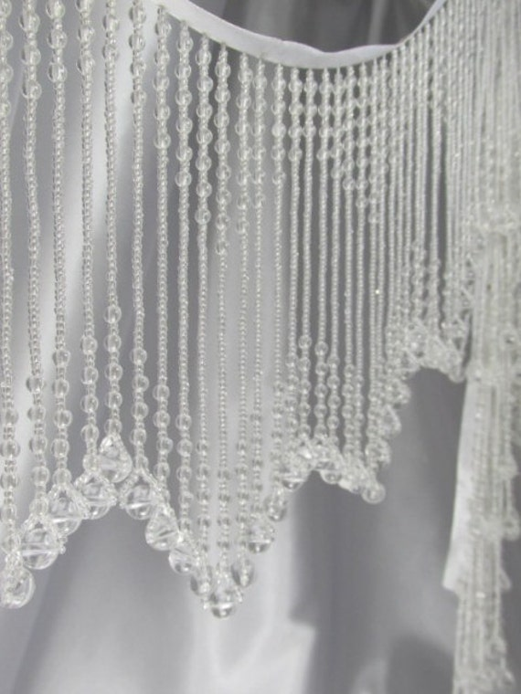 All Clear White 6 Inch Long Beaded Fringe Trim For By