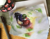 Duck Greeting Card from my Watercolor Painting