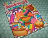 Rare Vintage 1980s Lisa Frank Junk Food Set of erasers rubbers gommes gommine