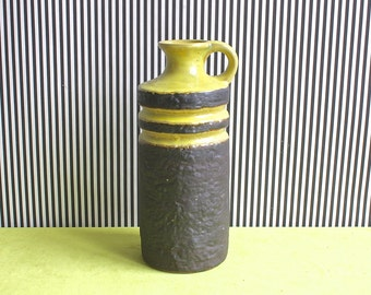 Vintage East German Pottery Handled Vase by VEB Haldensleben