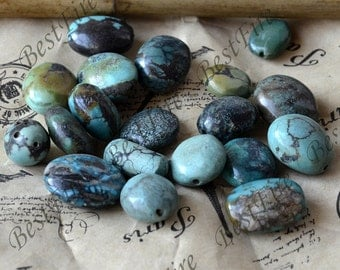 10 beads oval High quality Natural old Turquoise nugget loose beads,turquoise nugget gemstone beads,turquoise nugget beads