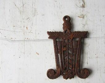 Vintage Rusty Decorative Metal Trivet - Japan - Rustic Home Decor