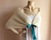custom order for beechercreature Ivory  Bridal Capes/ Wedding Wrap Shrug Bolero/Hand Knit Mohair