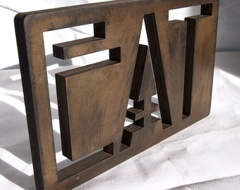 EAT Mission Style in Oak Large Bronze CLEARANCE