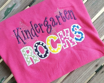 Kindergarten Rocks School T- Shirt