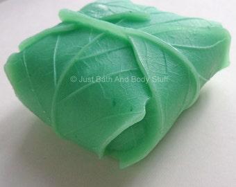 Leaf Soap, Leaves Soap, Folded Leaves, Novelty Soap, You pick scent & color