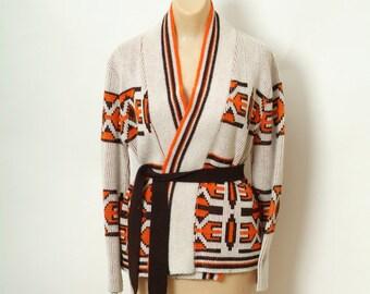 Vintage 70s sweater / 80s Sweater / Retro / Sweater /  Cardigan / Sweater / 70s top / boho sweater / hippie / Vintage sweater  1970s / 80s