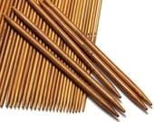 55Pcs 5 each size Double Pointed Carbonized Bamboo Knitting Needles 11 Sizes 13cm