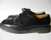 Vintage Doc Martens unisex made in England black leather traditional style size 11 UK shoes old school