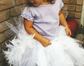 Duck Inspired Costume White Feather Tutu