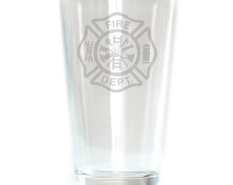 Pub Glass - 16oz - 6188 Fire Dept