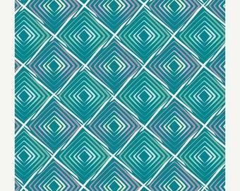ON SALE - HEARTBEATS Cool  - Art Gallery Fabrics - Poetica by Patricia Bravo (Poe-803) - 1 yard