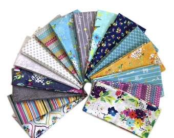 Fat Quarter Bundle - GIGI BLOOMS  -  by Adornit Fabrics  - 16 FQs