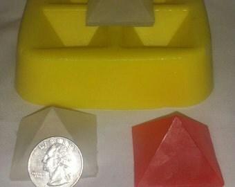 "1 1/2"" Pyramid Soap & Candle Mold"