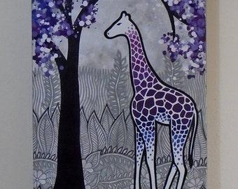"Original Acylic Painting, ""Giraffe"" 2015"
