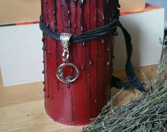 Spell candle - Wiccan Candle - Gothic candle - dressed candle - witchcraft - Curiosity candle - Handfasting gift - esbat