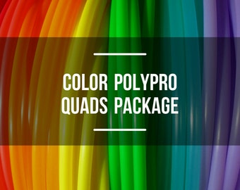 Quads Set: Four Colored Polypro Hula Hoops with Custom Tubing Size, Diameter and Grip Options!