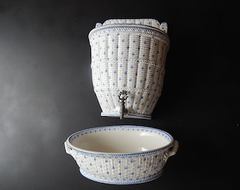 French Antique Porcelain Water Container Gorgeous and Rare ...and 'So French'