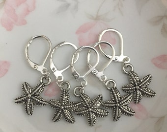 Starfish Knitting Crochet Stitch Markers set of 5