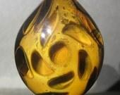 Boro Glass Sale Small Lampwork 24k Gold Honeycomb Tear Drop Pendant Borosilicate Bead Collection