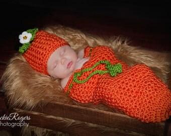 Fall Pumpkin Hat and Bag