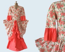 Theatrical Costume circa 1930s, floral feed sack fabric