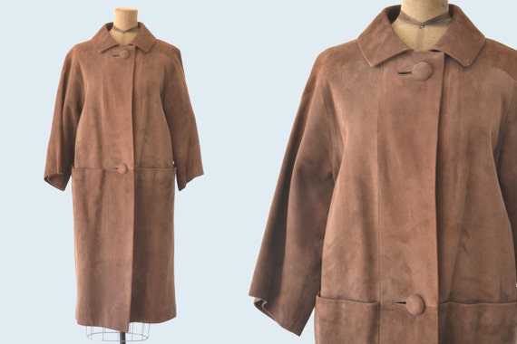 1960s Mod Brown Suede Jacket size M
