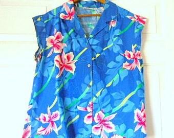 Vintage women's Hawaiian Shirt