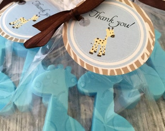 25 BABY GIRAFFE Party Favor Soaps: Baby Shower Favors, Birthday favors, Soap favors, Animal Favors, Giraffe Favors, Baby Sprinkle