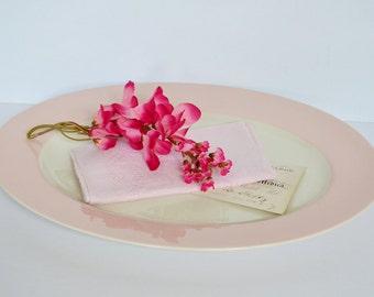 Vintage Pink Oval Platter