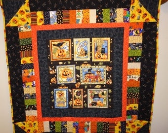 Large Halloween Wall Hanging Wall Quilt Lap Quilt