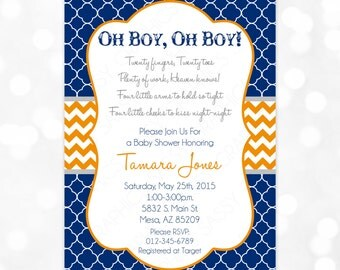 twins baby shower invitation baby boys it 39 s twins chevron oh baby it 39