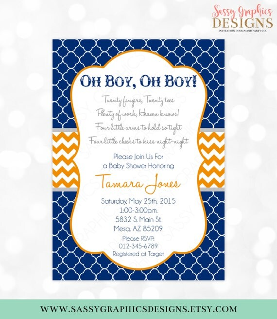 Twins baby shower invitation baby boys its twins chevron oh baby il570xn filmwisefo