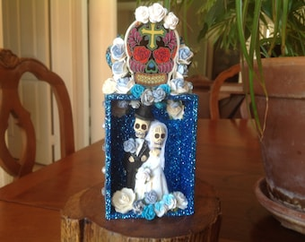 Day of the Dead Wedding Nicho, Shrine