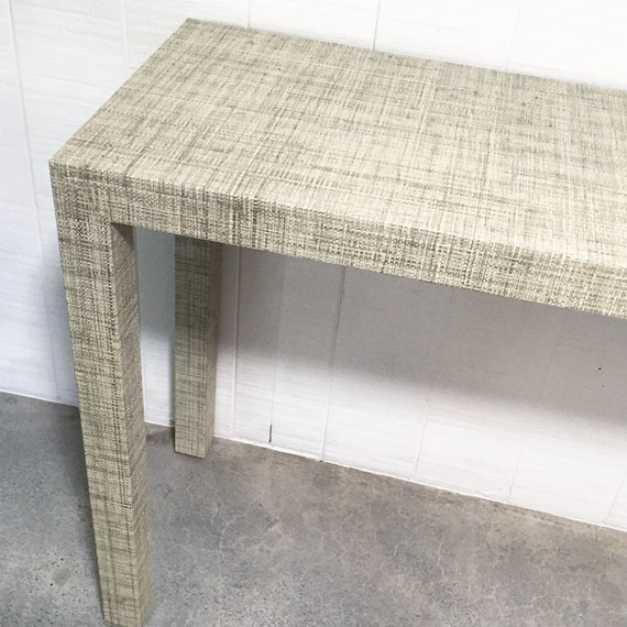 Grasscloth Covered Table - Custom Built - Design Your OWN