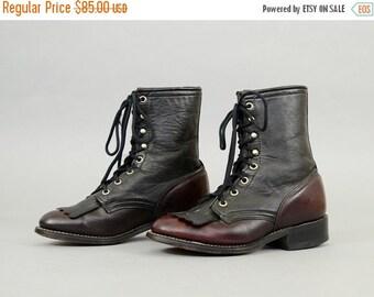 ANNIVERSARY SALE LAREDO Two-Tone Leather Boots Us 6