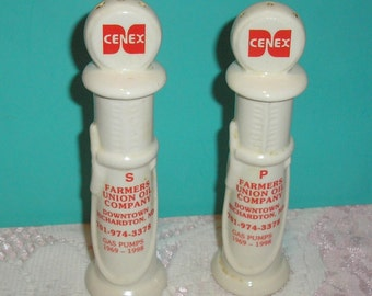 Cenex Farmers Union Oil Co. Salt and Pepper Shakers