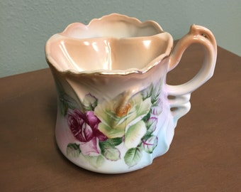 Vintage Brandenburg Pink Flower Shave Mug